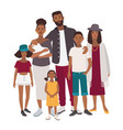 large family portrait african mother father and vector image
