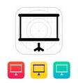 Projector screen icon vector image