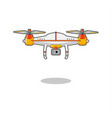 quadcopter aerial drone with camera vector image
