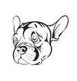sad french bulldog vector image