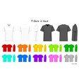 t-shirt v neck color collection set for your vector image