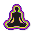 yoga meditation harmony body and soul template vector image