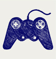 Gamepad joystick game controller vector image