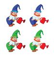 Gnome gardener vector image
