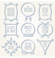 Rope borders thick set 2 vector image