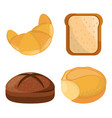 bread bakery different style vector image