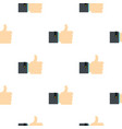 thumb up gesture pattern flat vector image