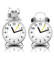 Alarm clock set in a retro style vector image