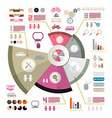 Retro Infographics Layout with Icons - Elements vector image vector image