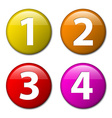 One two three four - badges with numbers vector image