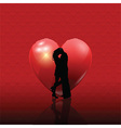 valentines couple on heart background 2101 vector image vector image