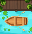 Park and boat vector image