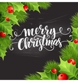 Christmas decoration on chalk board vector image