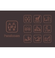 Set of pensioners simple icons vector image