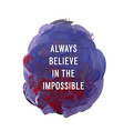 always believe vector image