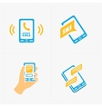 Colorful flat social icons set vector image