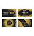 Golden Gift Voucher vector image