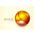 Abstract glass hi-tech sphere concept vector image vector image