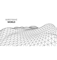 Wireframe Landscape Background Futuristic vector image