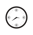 Flat icon in black and white time is money vector image