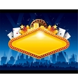 Casino city background vector image