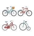 set of models of bicycles isolated icon design vector image