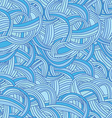 Abstract seamless hand-drawn pattern See waves vector image
