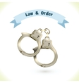 Law icon handcuffs vector image