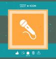microphone symbol icon vector image