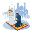 Praying Muslim Concept vector image