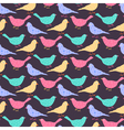 Seamless pattern of different colored wild birds vector image