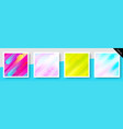 set of expressive colorful backgrounds vector image