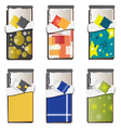 Single bed top view set 5 vector image