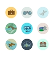 travel icons set Part 1 vector image