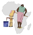 Water essential commodity for Africa vector image
