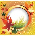 frame with colorful autumn leafs than vector image