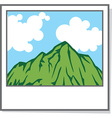 Photo of a Landscape Icon vector image vector image