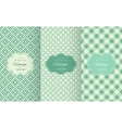 Retro mint and emerald seamless patterns vector image