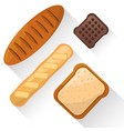 bread food product various image vector image