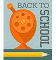 back to school banner poster design vector image vector image