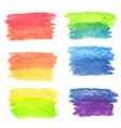 Set of rainbow watercolor banners vector