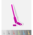 realistic design element hockey stick and puck vector image