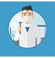 Ear nose throat doctor vector image
