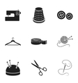 Atelie set icons in black style Big collection of vector image