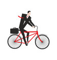 businessman cycling boss is on bicycle business vector image
