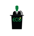 eco orator color vector image