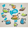 everyday meal and cooking equipment vector image