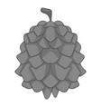 pine cone icon monochrome vector image