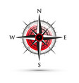 red compass vector image