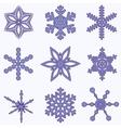 Simply Snowflake Set vector image